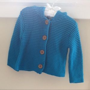 Other - Stern Hooded Blue Cardigan Sweater 6 Months NWOT
